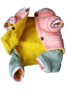 WARM Dog Pet WINTER Coat Pants Overall Jumpsuit Pajamas For SMALL Breeds XXS - L