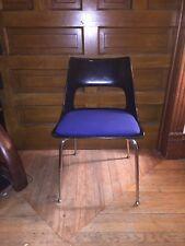 Mid Century Modern Eames Era Style Krueger Black Fiberglass Shell Chair
