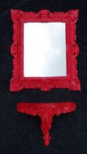 Espejos decorativos de pared rojos para el hogar