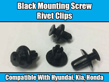 50x Clips Para Hyundai KIA Honda Remache Negro expansión de tornillos de montaje