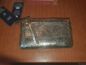 MARKS AND SPENCERS GOLD METALIC PURSE LOADS COMPARTMENTS NEW/TAGS 25.00 ON TAG