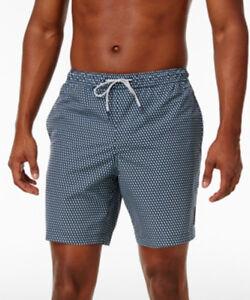Michael Kors Men's Midnight Blue Circle-Print Swim Trunks Size L Retail
