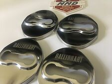Ralliart 4 x Door Lock Covers Chrome With Ralliart Logo Rare Item EVO Lancer ASX