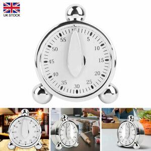 60 Minutes Kitchen Mechanical Timer Baking Cooking Reminder Loud Alarm Clock Hot
