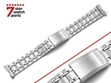 For SEIKO Watch SILVER Stainless Steel Watch Strap Band Bracelet Clasp 19mm
