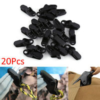 20Pcs Black Outdoor Camping Tent Awning Clamp Tarp Hanger Clips Accessories WD