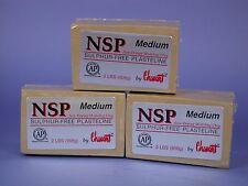 Chavant NSP Non-Drying Modeling Clay-3 pack - Medium - Tan -sculpting modeling