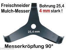 Freischneider Mulchmesser 3-Zahn 90° 300 x  25,4 x 4mm Dickichtmesser Motorsense