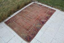 """Vintage Handmade Turkish Office Oushak Rug 6'2""""x4'"""
