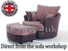 Cuddle chair set Love seat cuddler chair swivel chair snuggle chair  jumbo cord