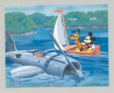 Palau #343 Disney, WWII Aviation, Sailing 1v S/S Imperf Chromalin Proof