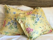 Two (2) LAURA ASHLEY Poppy Meadow Throw Pillows