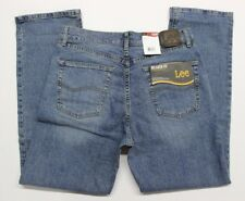 Men's Lee Relaxed Fit Straight Leg Stretch Blue Jeans (2055554) Larson