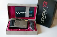 Contax T2 Titanium Point & Shoot Film  Camera w/ Case Box