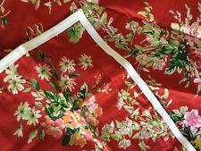 RARE $110+tax Ralph Lauren Red Belle Harbor 1 King Sham Roses Flower Bouquet