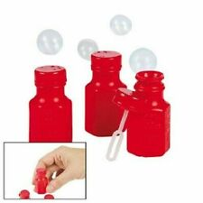 Mini Hexagon Red Bubble Bottles (4 dz). Fun Express
