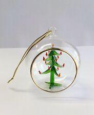6-462-2A    Eine Murano Glas Kugel mit Weihnachtsbaum