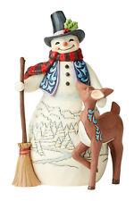 Jim Shore 4th Annual Snowman With Deer Figurine 6005913