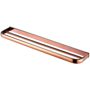 Copper Double Towel Rail / Towel Holder 570mm x 68mm Industrial Rose Gold