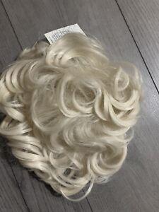 Scrunchie Messy Bun Drawstring Hair Piece Clip in Hair Extensions as Human Blond