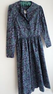 Vintage LAURA ASHLEY 100% cotton dress, size UK12