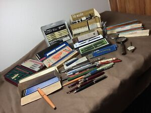 Vintage Lot FOUNTAIN PEN PENCIL SHEAFFER Montblanc Cross Staedtler Kor-I-noor