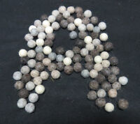 FB12 Hand Crafted Decorative 2cm 50pc Natural Color wool Pom Pom Beads Felt Ball