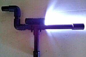 Purple Marshmallow PVC Shooter w/ LCD Flashlight Shoots Mini Mallows