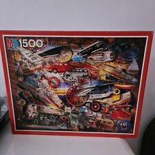 MB Puzzle 1500 Piece Jigsaw Puzzle 1993 Transport..