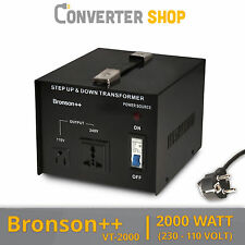 Bronson++ VT 2000 Watt Transformateur / USA 110 Volt Converter / Convertisseur