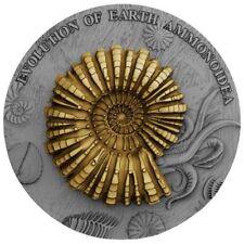 Niue 2018, AMMONOIDEA, Evolution of Earth, 2oz silver, $2 Ammonite