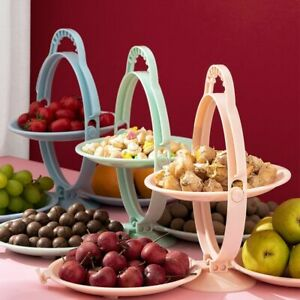 Durable And Stylish 1pc Three-Layered Foldable Fruit Tray Decoration For Tables