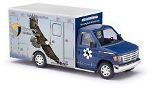"LIMITED EDITION HO Busch # 41846 Ford E-350 "" Eagle "" Wyoming Medical Ambulance"