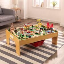 KidKraft Adventure Town Railway Wooden Train Set Table Kraft Assembly Toy Track