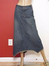 New Listing CATO WOMAN BLUE JEAN ASYMMETRICAL 5 POCKET MIDCALF DENIM SKIRT SZ 18W