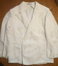 Boys Vtg Palm Beach Goodall Sanford Double Breasted Suit 1950s 1940s w belt