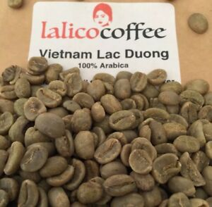 Lac Duong Microlot Vietnam Green/Raw 100% Arabica Coffee Beans For Home Roasting