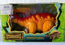 Stegosaurus Dinosaur Kid Light Up Toy Figure Sound Real Moving-Yellow