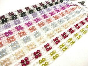 2 Tantalise Curtain Tiebands 65cm Beaded Drape Tiebacks Fabric Tie backs 9cols