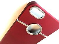 Deluxe Red Hard Case Cover Chrome for Apple iPhone 5 5S SE 5G