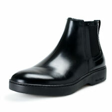 "Salvatore Ferragamo Men's ""DIMITRI"" Black Leather Ankle Boots Shoes"
