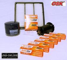 MITSUBISHI TRITON MH MJ 4WD V6 3.0L 6G72 OIL AIR FUEL FILTER+SPARK PLUGS 90 - 96
