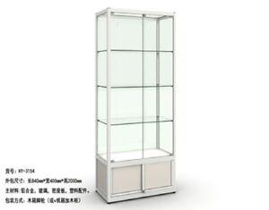 1X Glass Display Showcase 4-Shelf Cabinet Storage 84x40x200cm