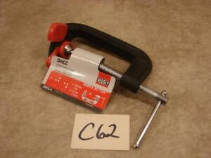 "C62 Bessey Dhcc-4 Dbl Anvil C-Clamp,4"",Iron,Light,1200 Lb."