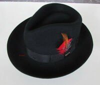 47bb43525f0ee Fedora Hat 100% wool Mafia Godfather with Feather Unsex Men s Women s