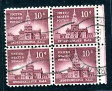 #1044 - VF used block w/ double ring date next to wavy machine cxl - nice!