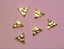 Hammered TRIANGLES for Model Horse Costumes GOLD PLATED