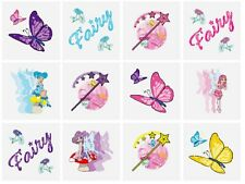 12 x bambine Fate Fata Tatuaggi Temporanei Trasferimenti Giochi N51 034