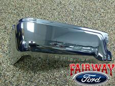 09 thru 14 Ford F-150 OEM Genuine Ford Rear Chrome Step Bumper wo Prox LH Driver