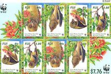 Fiji-Monkey Faced Bat WWF issue special min sheet mnh